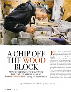 Cape Ann Magazine interview with Fred Rossi
